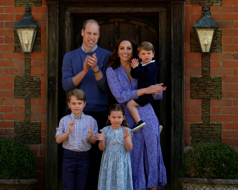 Kate i William z dziećmi /Comic Relief/BBC Children in Need/Comic Relief /Getty Images