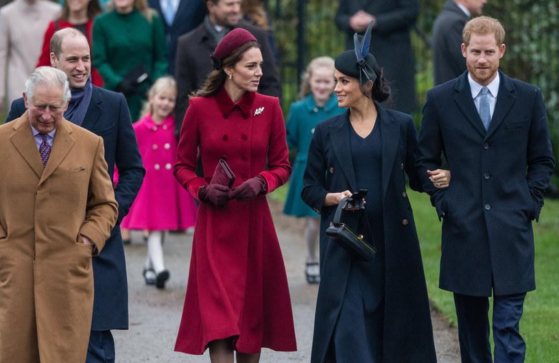 Kate i William z Meghan i Harry oraz księciem Karolem /Stephen Pond /Getty Images
