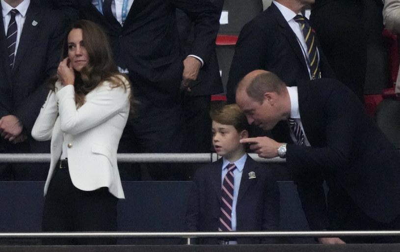 Kate i William z synem Georgem na finale Euro 2020 /Frank Augstein /East News