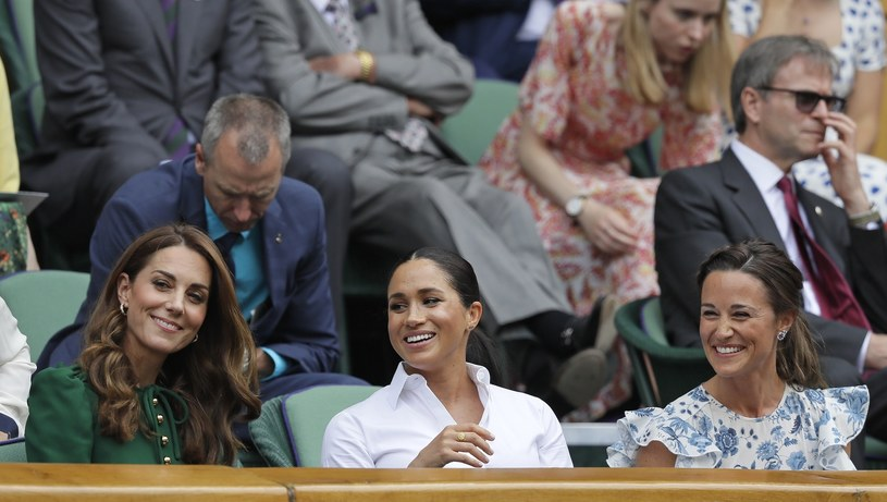Kate, Meghan i Pippa na Wimbledonie /Associated Press /East News