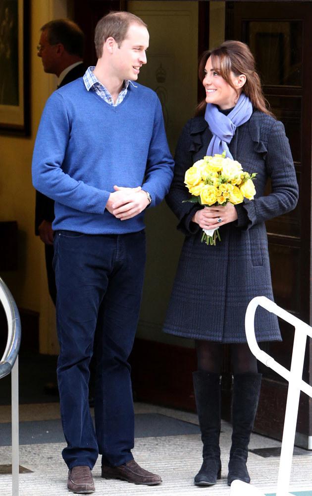 Kate Middleton i książę William /Matt Keeble /Splashnews