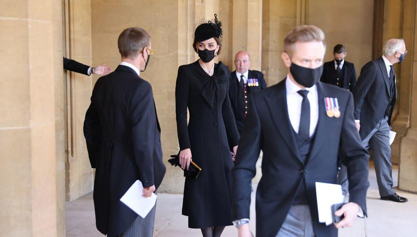 Kate Middleton na pogrzebie księcia Filipa