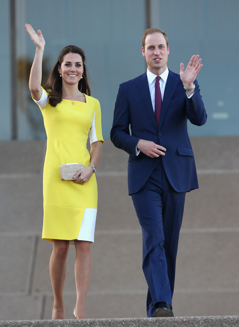 Kate Middleton w żółtej sukience /Chris Jackson /Getty Images