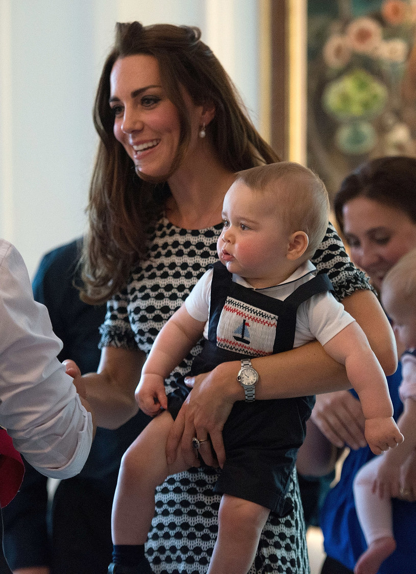 Kate Middleton z synkiem /Pool /Getty Images