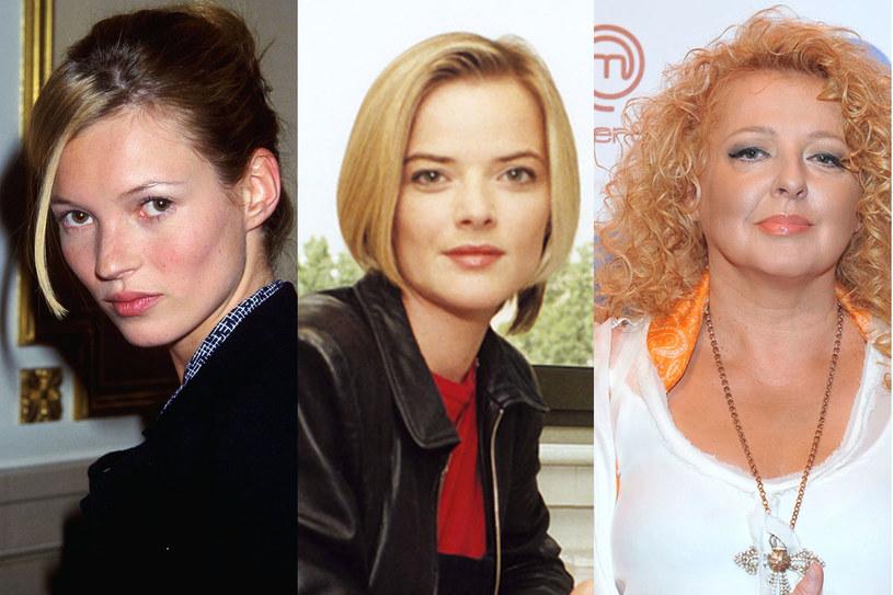 Kate Moss (1999), Monika Richardson (2000), Magda Gessler (2015)/ fot. Getty Images, AKPA /Styl.pl