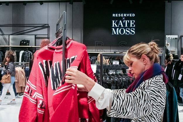 Kate Moss w sklepie Reserved na Oxford Street w Londynie /PAP