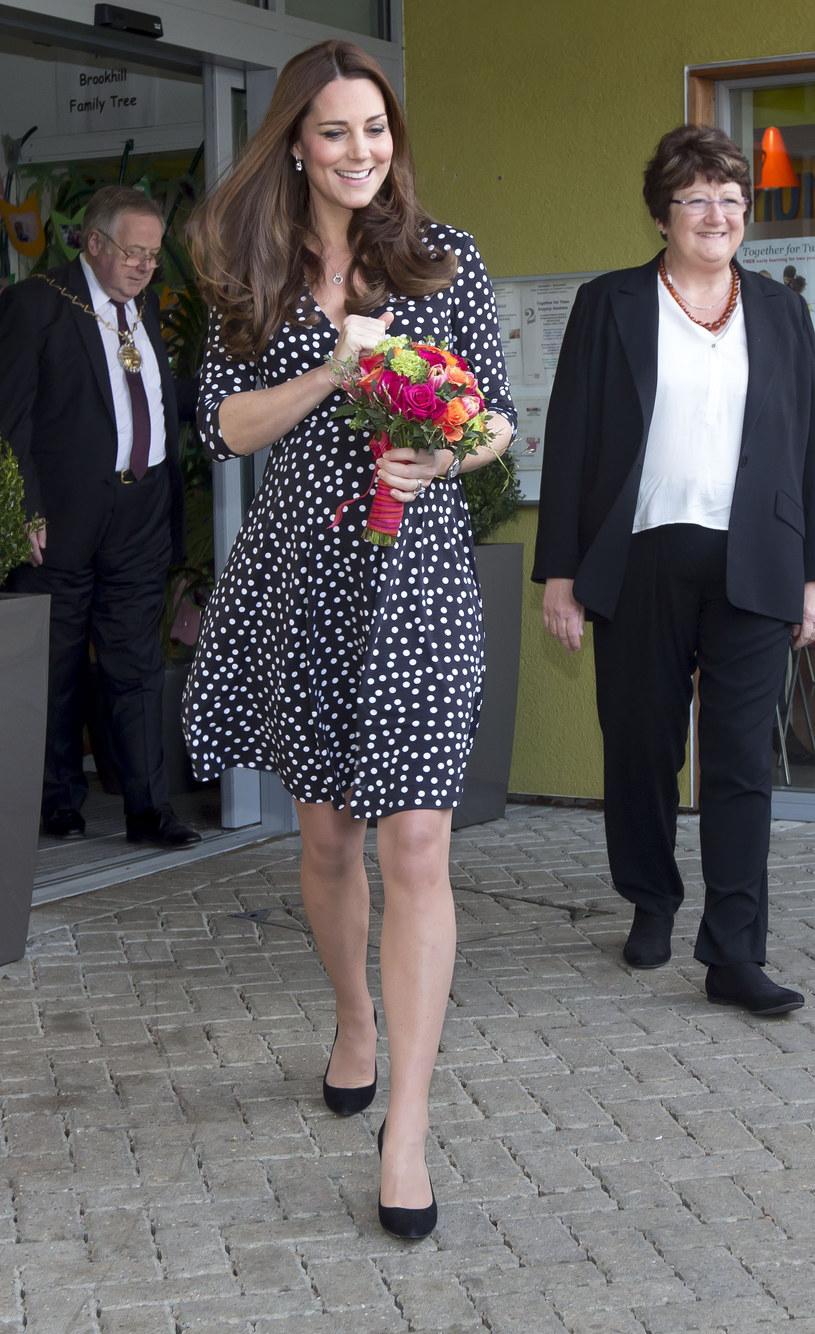Kate zaprezentowała się w sukience w groszki /WPA Pool /Getty Images