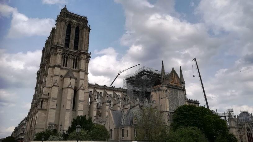 Katedra Notre Dame kilka tygodni po pożarze /Remigiusz Półtorak /INTERIA.PL