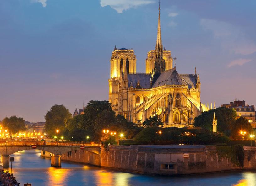 Katedra Notre Dame nocą /123RF/PICSEL