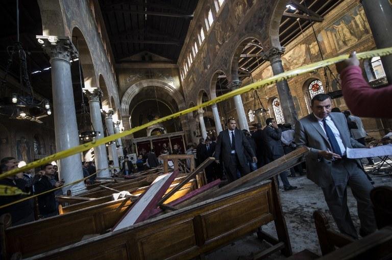 Katedra po zamachu /AFP