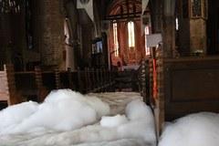 Katedra w Gorzowie Wielkopolskim po akcji gaśniczej