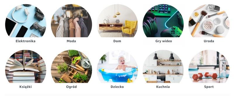 Kategorie produktów dostępne w Amazon.pl /INTERIA.PL