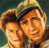 """Katharine Hepburn i Humphrey Bogart, plakat filmu """"Afrykańska Królowa"""" /"""