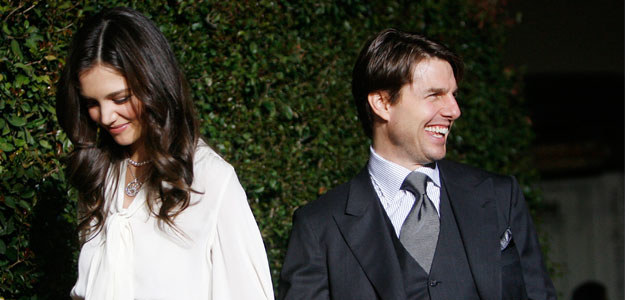 Katie Holmes i Tom Cruise, fot. Kevin Winter   /Getty Images/Flash Press Media