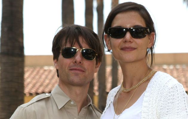 Katie Holmes i Tom Cruise, fot. Kristian Dowling   /Getty Images/Flash Press Media