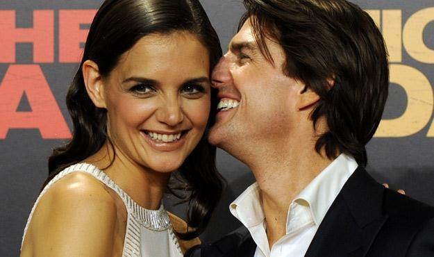 Katie Holmes i Tom Cruise - kiedyś stanowili szczęśliwą parę /AFP