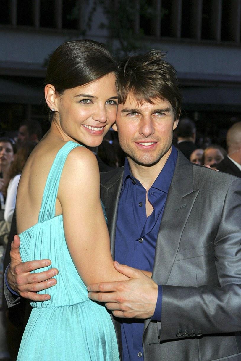 Katie Holmes i Tom Cruise w 2005 roku /Everett Collection /East News