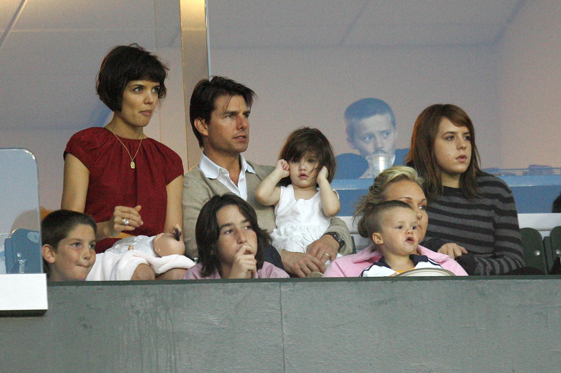 Katie Holmes, Tom Cruise i malutka Suri /Getty Images