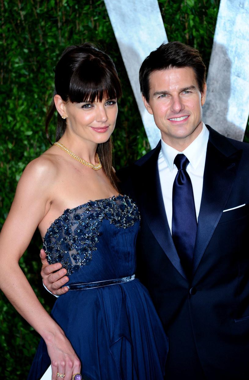 Katie Holmes z byłym mężem, Tomem Cruisem /Alberto E. Rodriguez /Getty Images