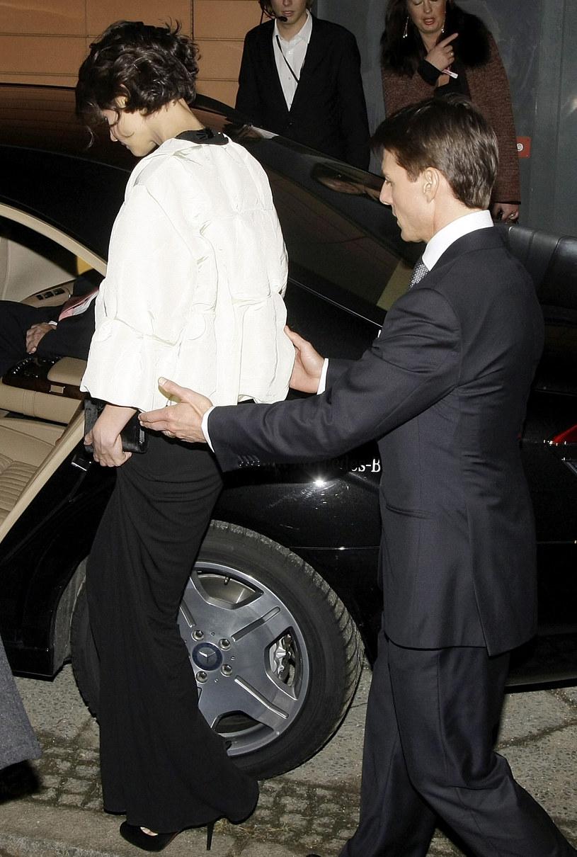 Katie Holmes z byłym mężem /Florian Seefried /Getty Images