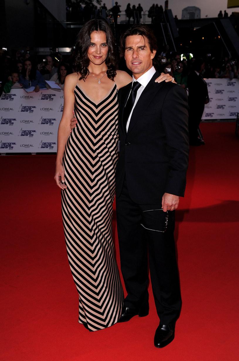 Katie i Tom przybyli razem na tę uroczystość  /Getty Images/Flash Press Media