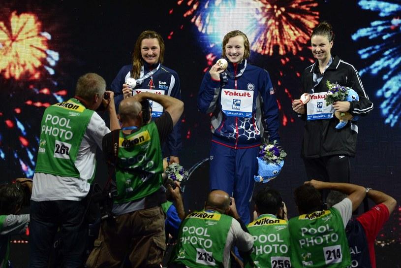 Katie Ledecky wywalczyła złoty medal MŚ na 400 m stylem dowolnym /AFP