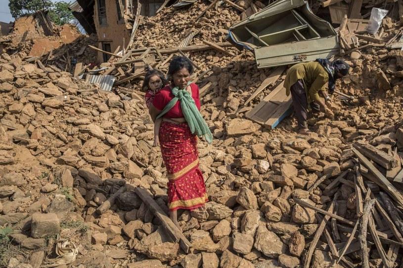 Katmandu po trzęsieniu ziemi /AFP