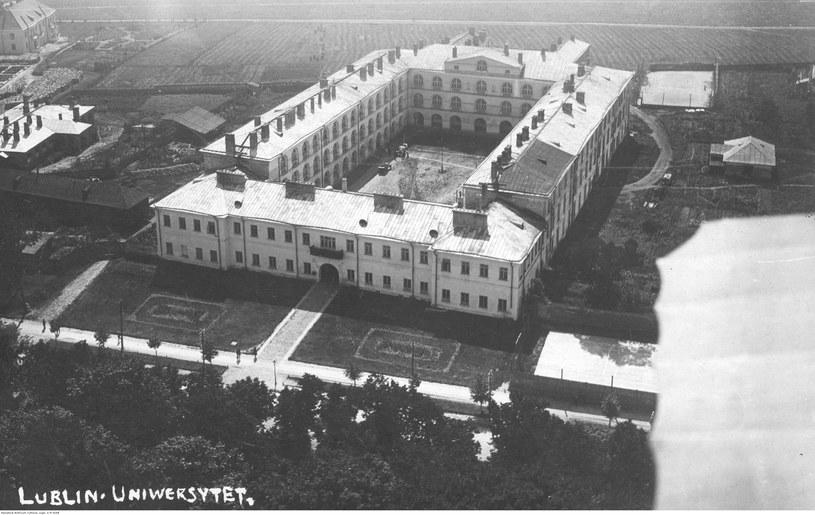 Katolicki Uniwersytet Lubelski. Widok z lotu ptaka /Z archiwum Narodowego Archiwum Cyfrowego