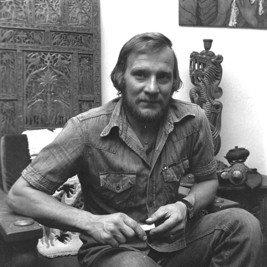 Katowice 1989. Jerzy Kukuczka, polski alpinista i himalaista /Kazimierz Seko (CAF) /PAP