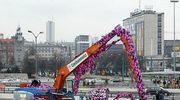 Katowice: Koparki w pokrowcach z włóczki