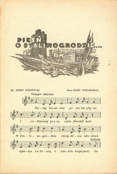Śpiewnik Radiowej Czelodki, popularnej w latach 50. audycji radiowej,wyd. Rozgłośnia Polskiego Radia w Stalinogrodzie