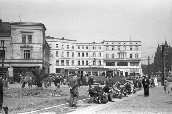 Rynek w Stalinogrodzie, 1955