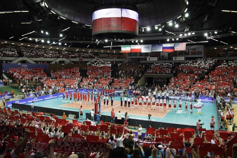 Katowicki Spodek podczas czerwcowego meczu Ligi Światowej Polska - Rosja /Adrian Ślazok /Reporter