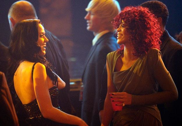 "Katy Perry i Rihanna: ""Pozdrów męża"" fot. Kevork Djansezian /Getty Images/Flash Press Media"