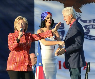 Katy Perry na wiecu w Iowa