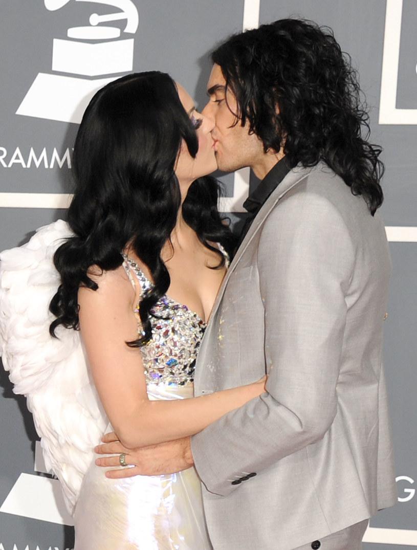 Katy Perry z byłym mężem, Russelem Brandem /Jason Merritt /Getty Images