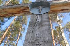 Katyń. Tutaj leży 4421 polskich oficerów zamordowanych przez NKWD