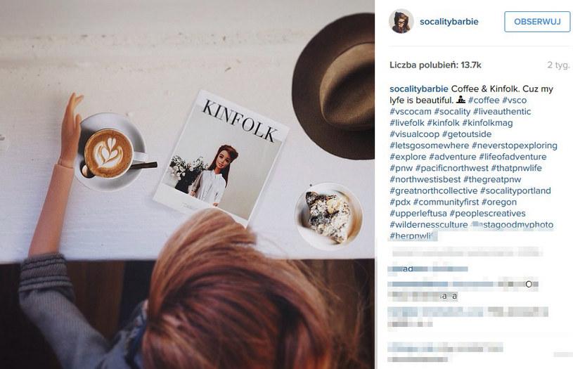 """Kawa jako """"dzieło sztuki?"""" /@socialitybarbie /Instagram"""