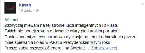 Kayah na Facebooku /