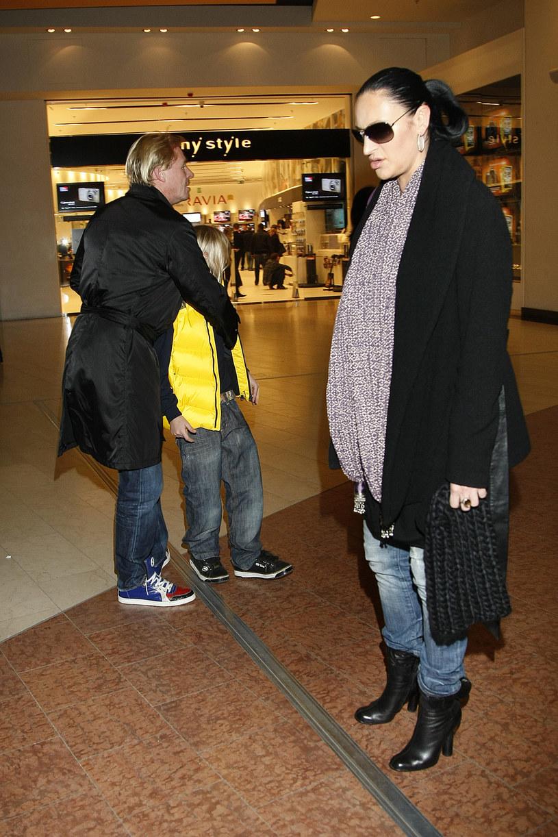 Kayah z byłym mężem i synem, 2009 rok /Jarosław Wojtalewicz /AKPA
