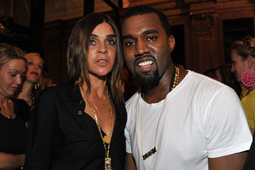 Kayne West z Carine Roitfeld   /Getty Images/Flash Press Media