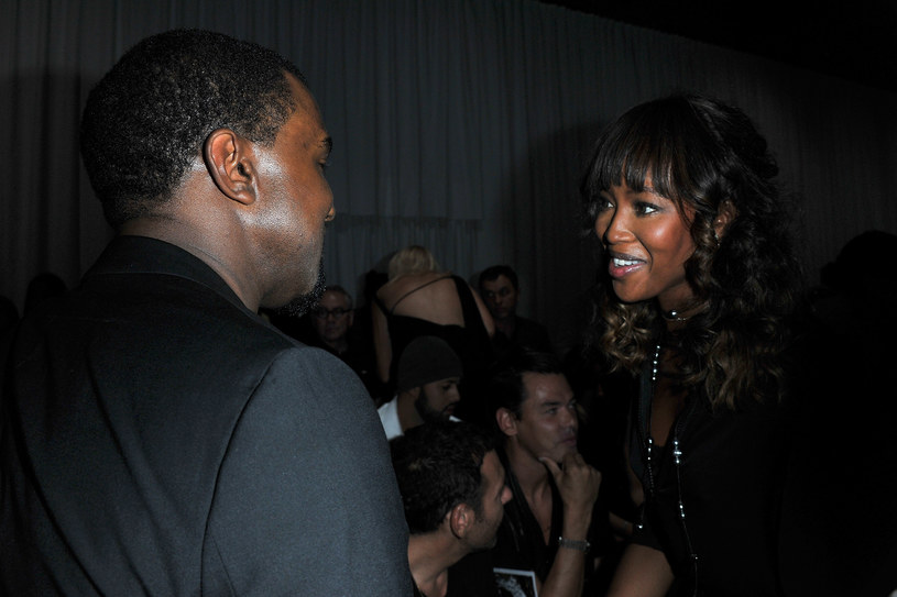 Kayne West z Naomi Campbell   /Getty Images/Flash Press Media
