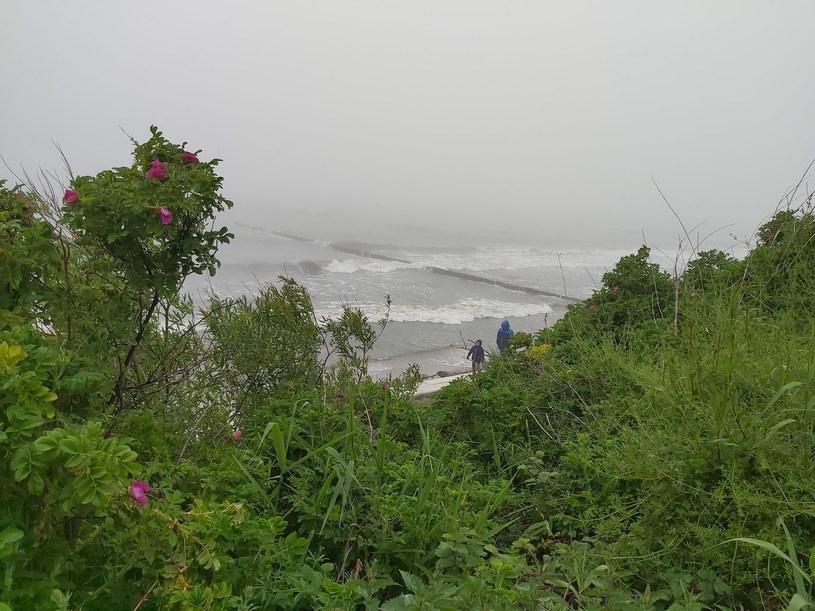 Każda pogoda jest dobra na spacer brzegiem morza