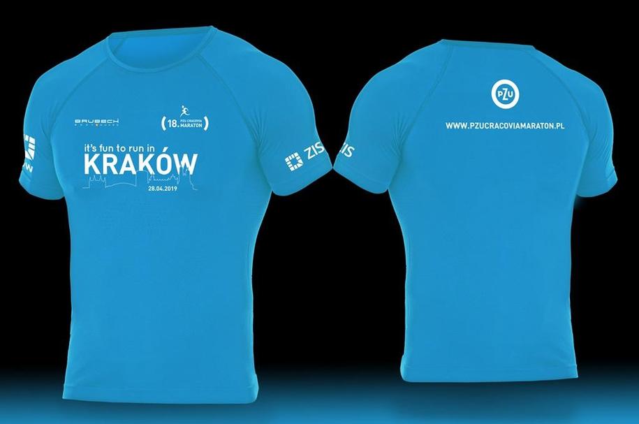 Każdy z uczestników w swoim pakiecie startowym znajdzie koszulkę 18. PZU Cracovia Maraton /Cracovia Maraton /