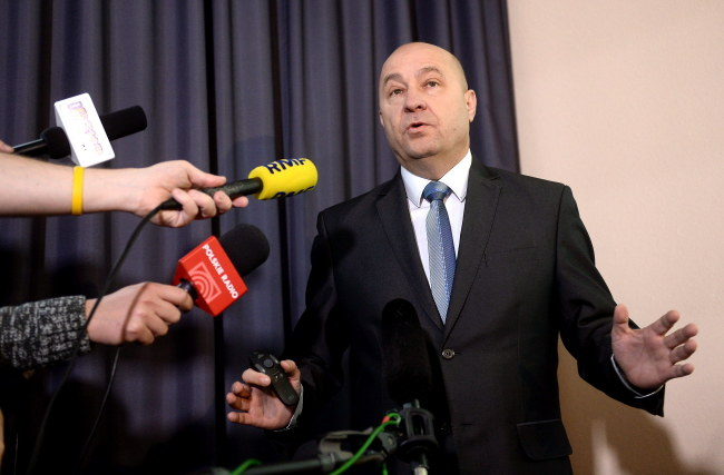 Kazimierz Greń na konferencji /Bartłomiej Zborowski /PAP