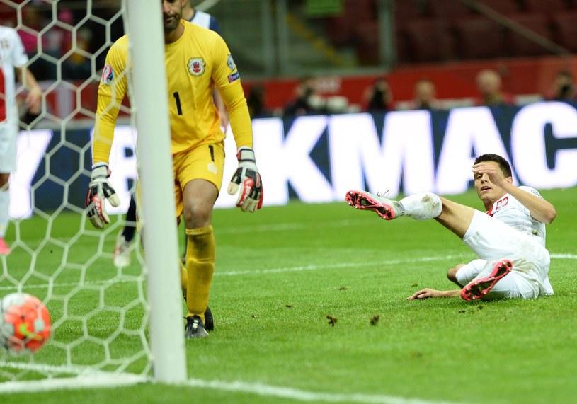 Kazimierz Kapustka grał w 3 lidze, Mateusz jest sędzia, a Bartek (na zdjęciu) strzela gole dla reprezentacji Polski /AFP