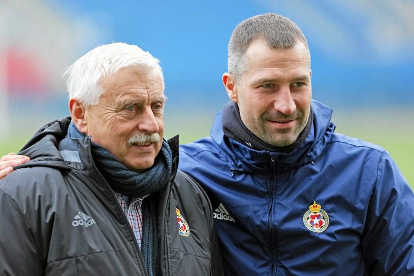 Kazimierz Kmiecik (z lewej) i Radosław Sobolewski /Mateusz Skwarczek /