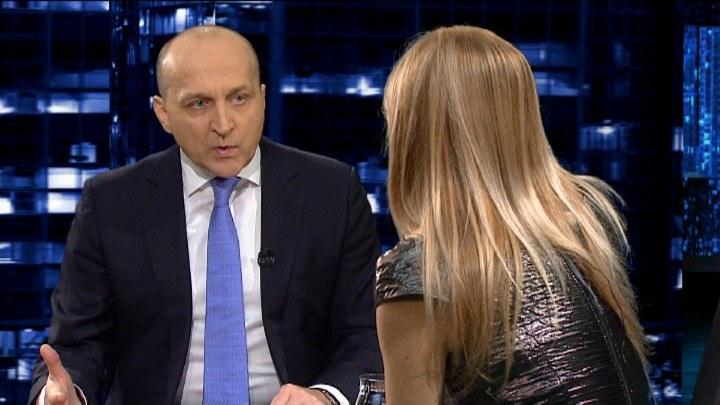 Kazimierz Marcinkiewicz był gościem Moniki Olejnik /TVN24/x-news