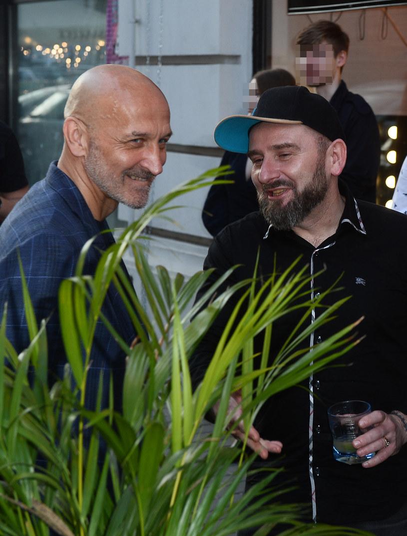 Kazimierz Marcinkiewicz i Liroy na otwarciu restauracji /Jarosław Antoniak /MWMedia