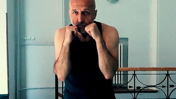 Kazimierz Marcinkiewicz podczas treningu /Polsatnews.pl